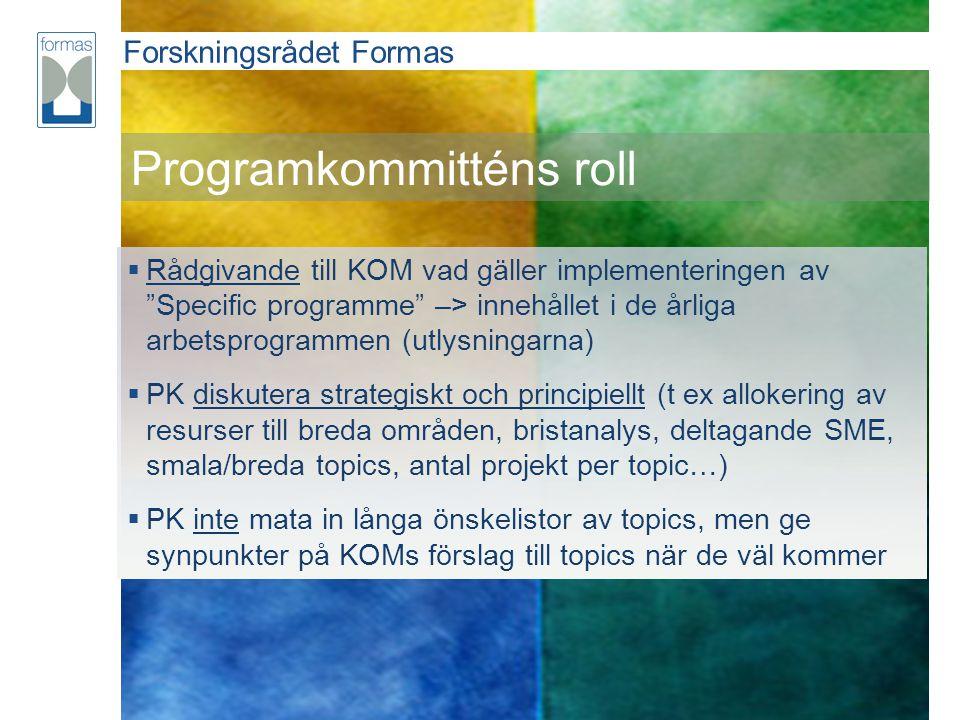 Programkommitténs roll