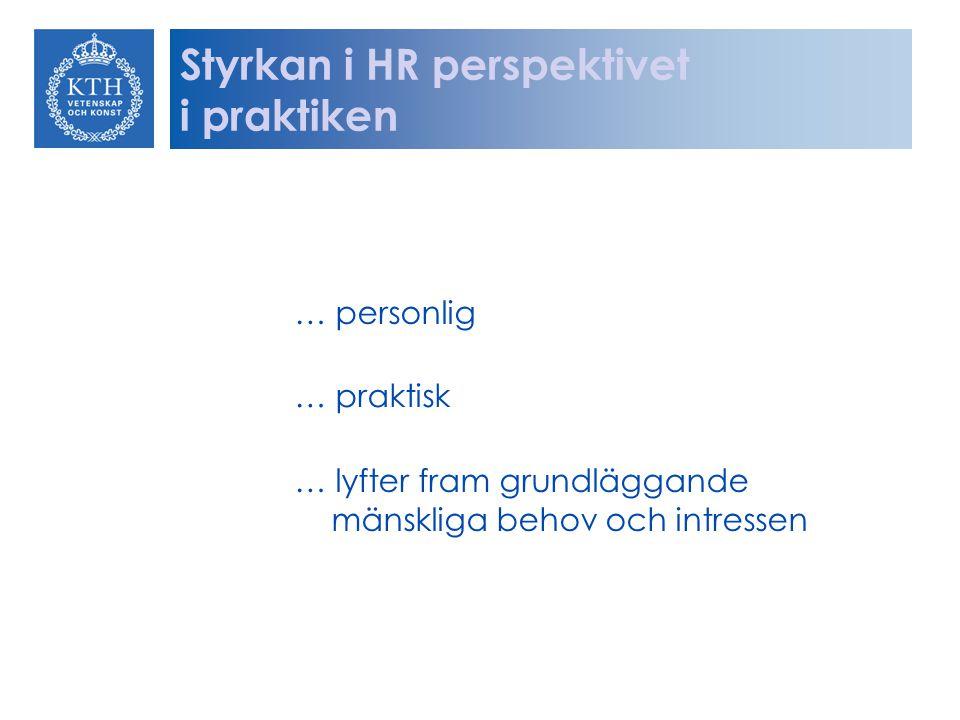 Styrkan i HR perspektivet i praktiken