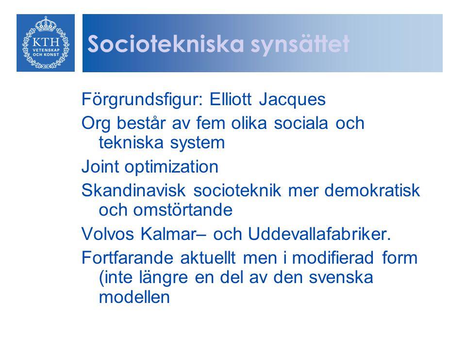 Sociotekniska synsättet