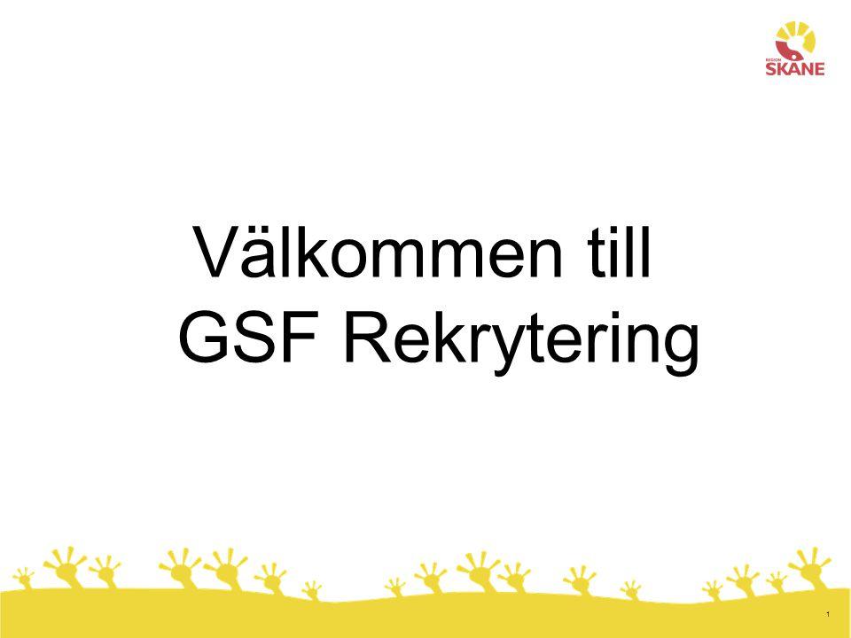 Välkommen till GSF Rekrytering