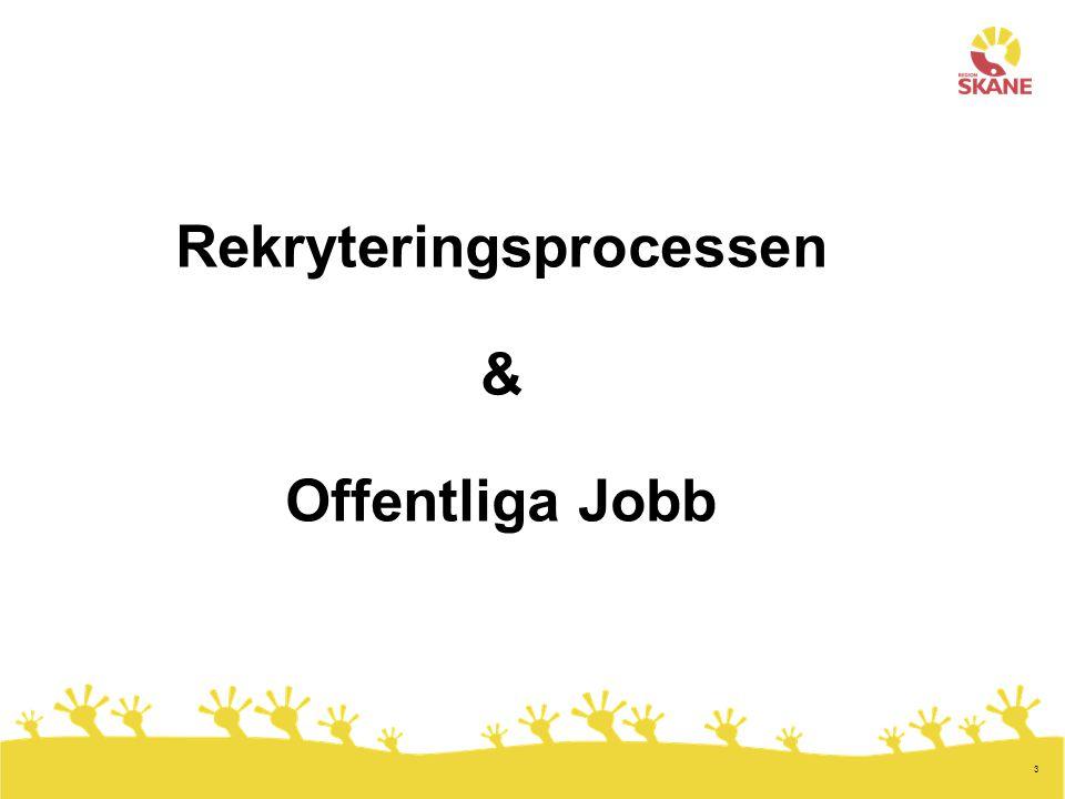 Rekryteringsprocessen & Offentliga Jobb