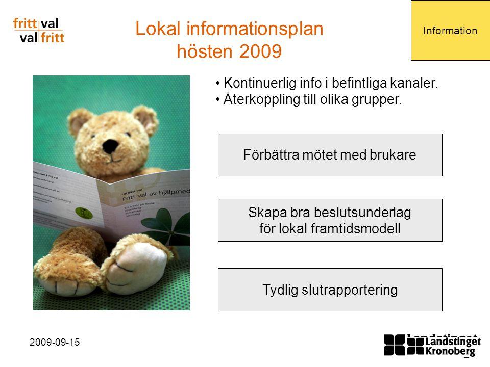 Lokal informationsplan hösten 2009