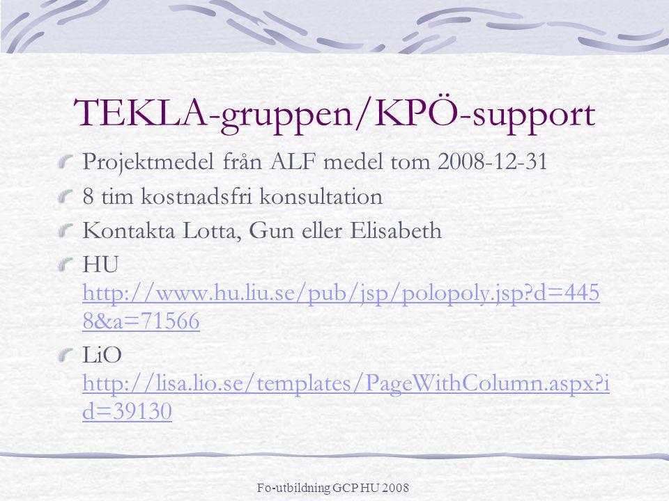 TEKLA-gruppen/KPÖ-support