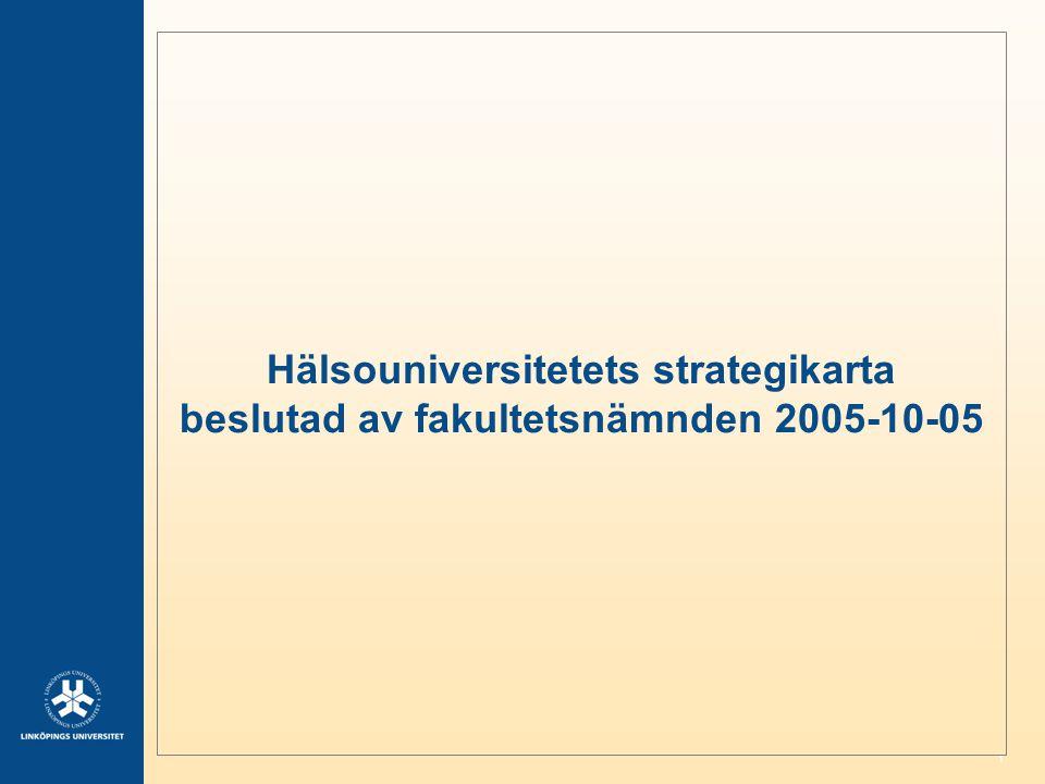 Hälsouniversitetets strategikarta beslutad av fakultetsnämnden 2005-10-05