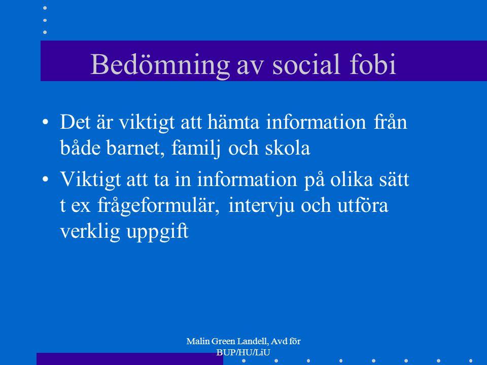 Bedömning av social fobi