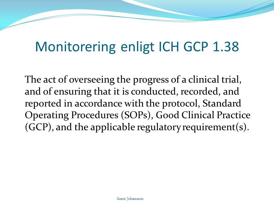 Monitorering enligt ICH GCP 1.38