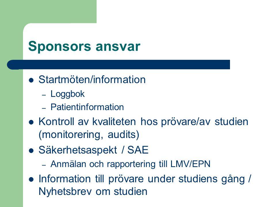 Sponsors ansvar Startmöten/information