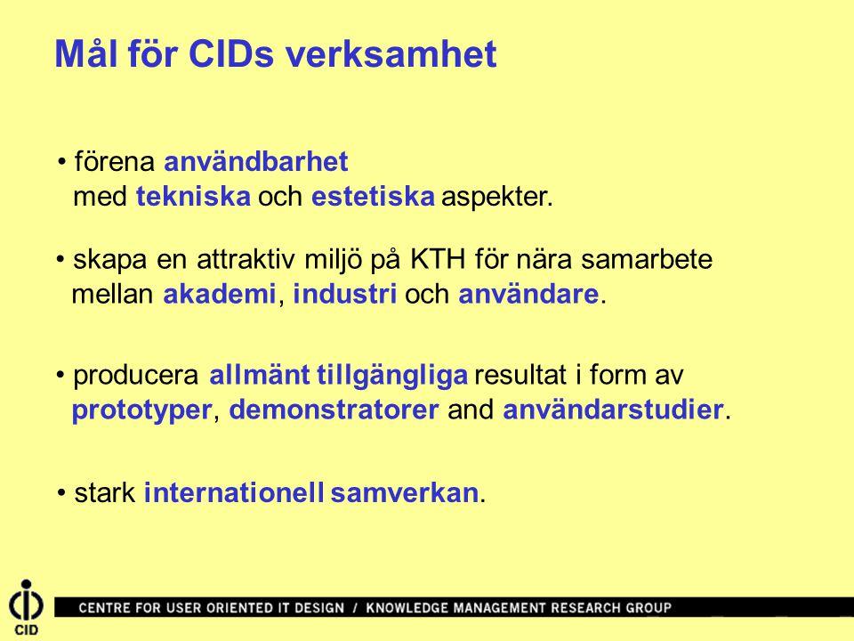 Mål för CIDs verksamhet