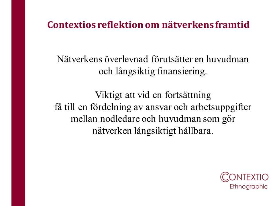 Contextios reflektion om nätverkens framtid