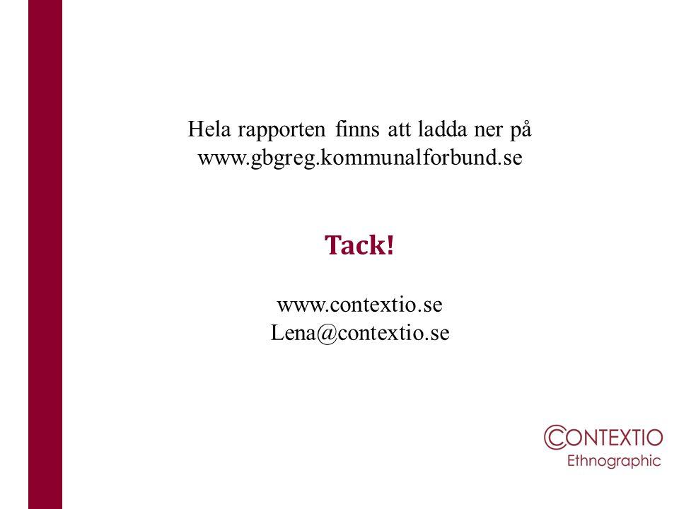 Hela rapporten finns att ladda ner på www.gbgreg.kommunalforbund.se