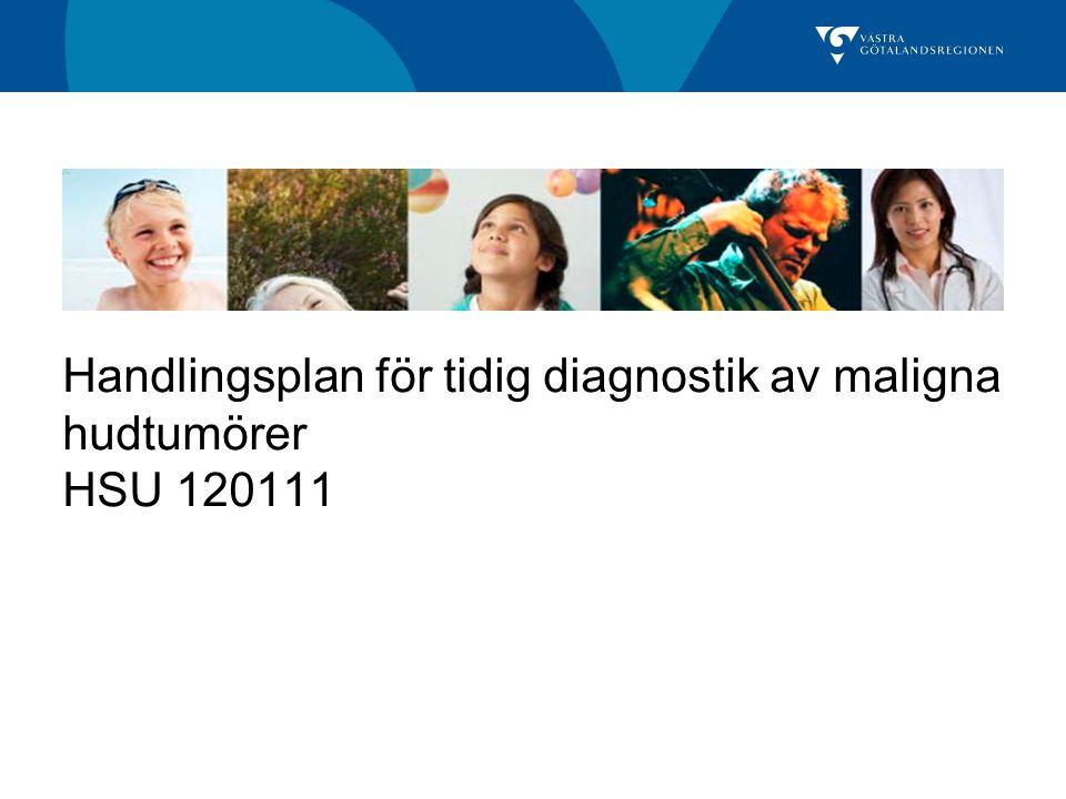 Handlingsplan för tidig diagnostik av maligna hudtumörer HSU 120111