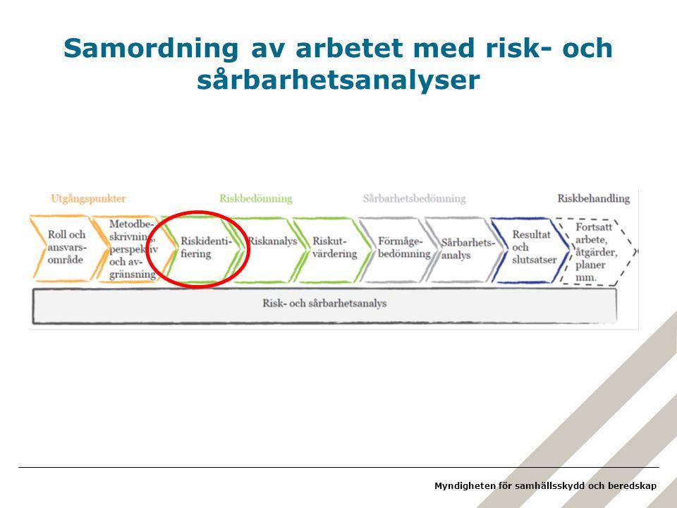 Samordning av arbetet med risk- och sårbarhetsanalyser