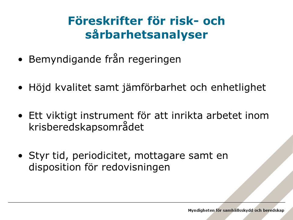 Föreskrifter för risk- och sårbarhetsanalyser