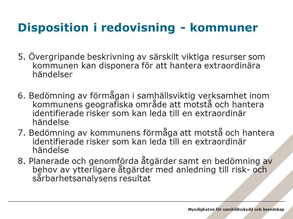 Disposition i redovisning - kommuner