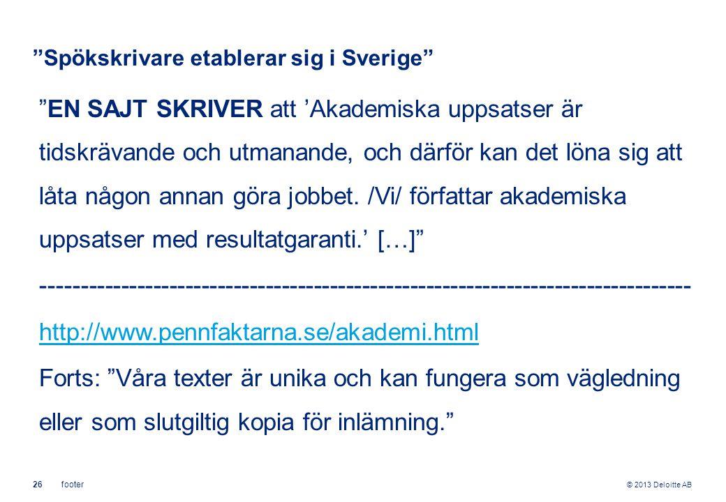 Spökskrivare etablerar sig i Sverige
