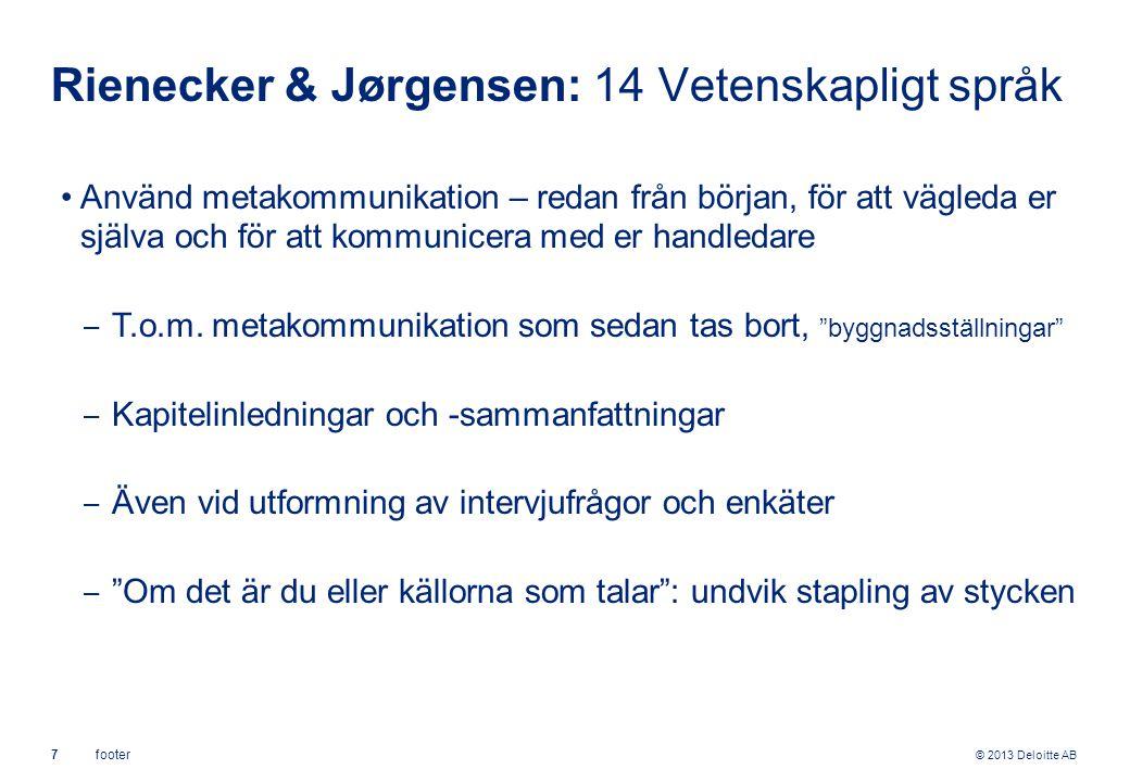 Rienecker & Jørgensen: 14 Vetenskapligt språk