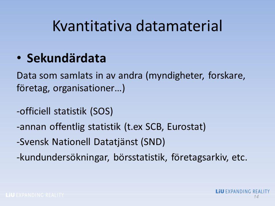 Kvantitativa datamaterial
