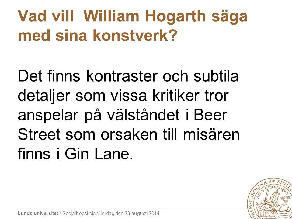 Vad vill William Hogarth säga med sina konstverk