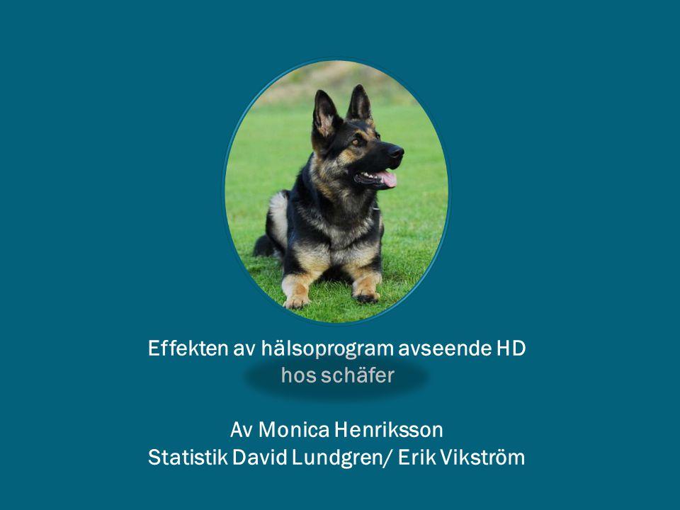 Effekten av hälsoprogram avseende HD hos schäfer Av Monica Henriksson Statistik David Lundgren/ Erik Vikström