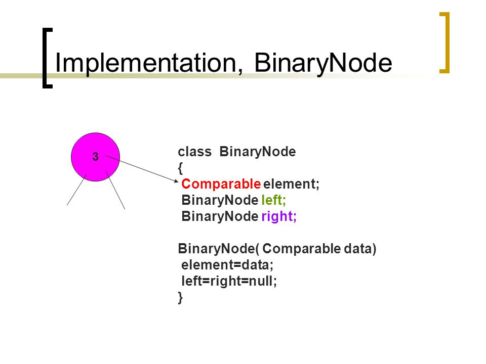 Implementation, BinaryNode