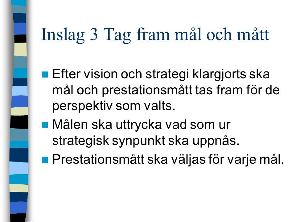 Inslag 3 Tag fram mål och mått