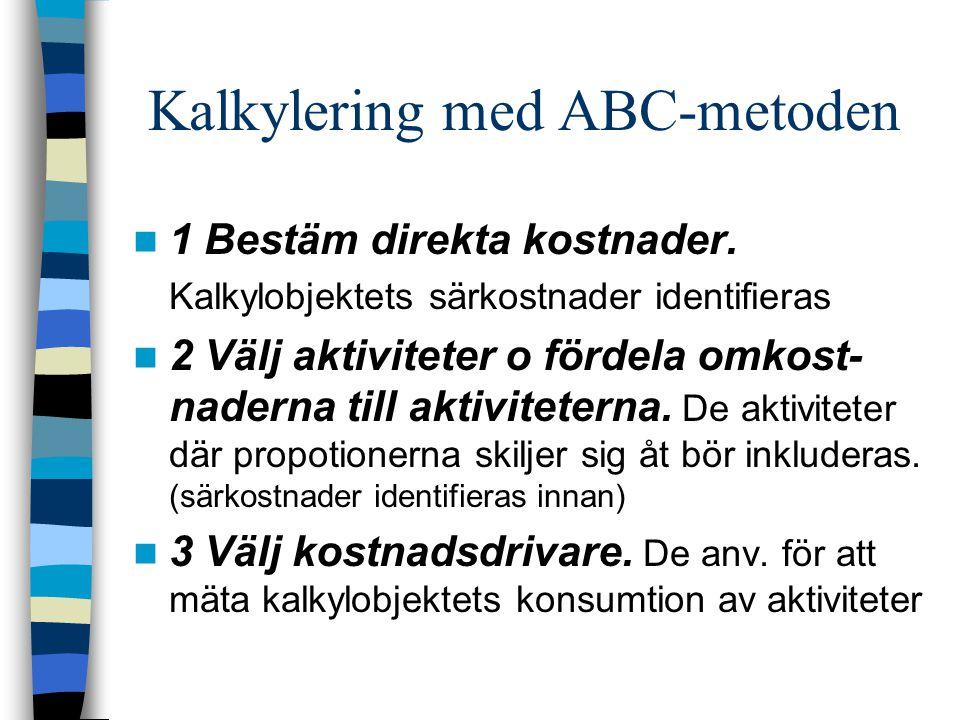 Kalkylering med ABC-metoden