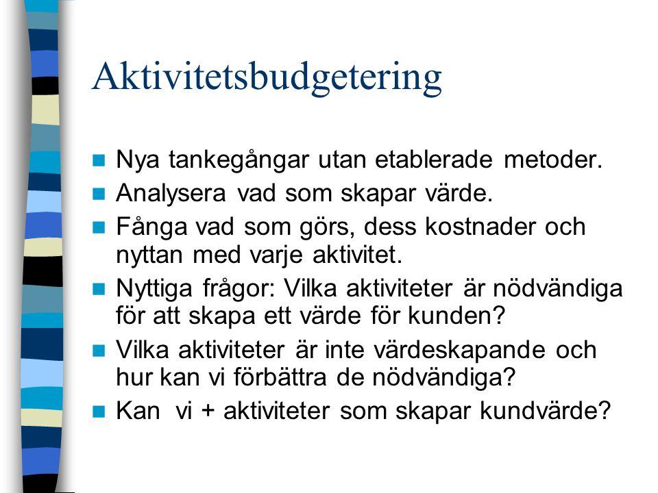 Aktivitetsbudgetering