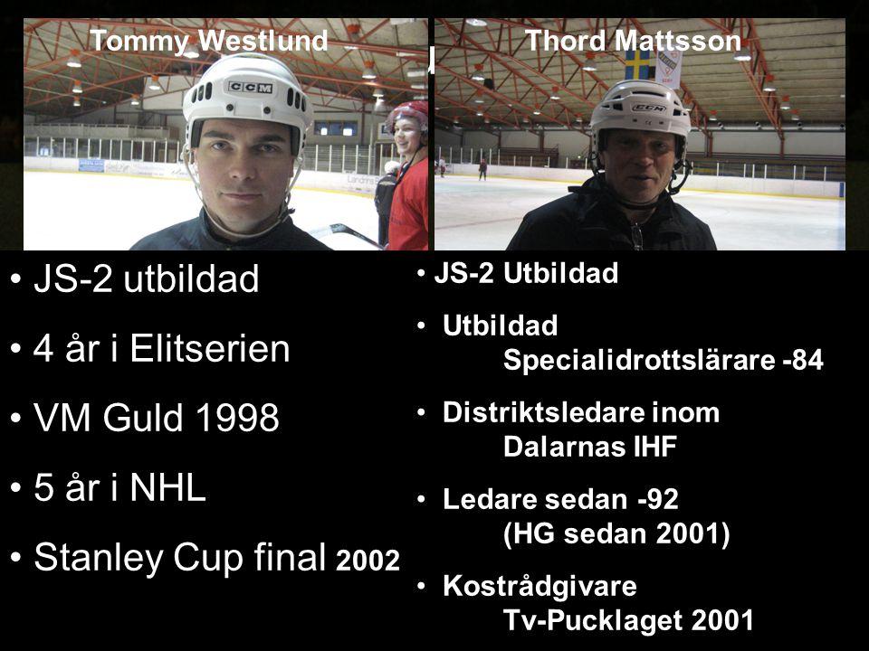 Instruktörer JS-2 utbildad 4 år i Elitserien VM Guld 1998 5 år i NHL