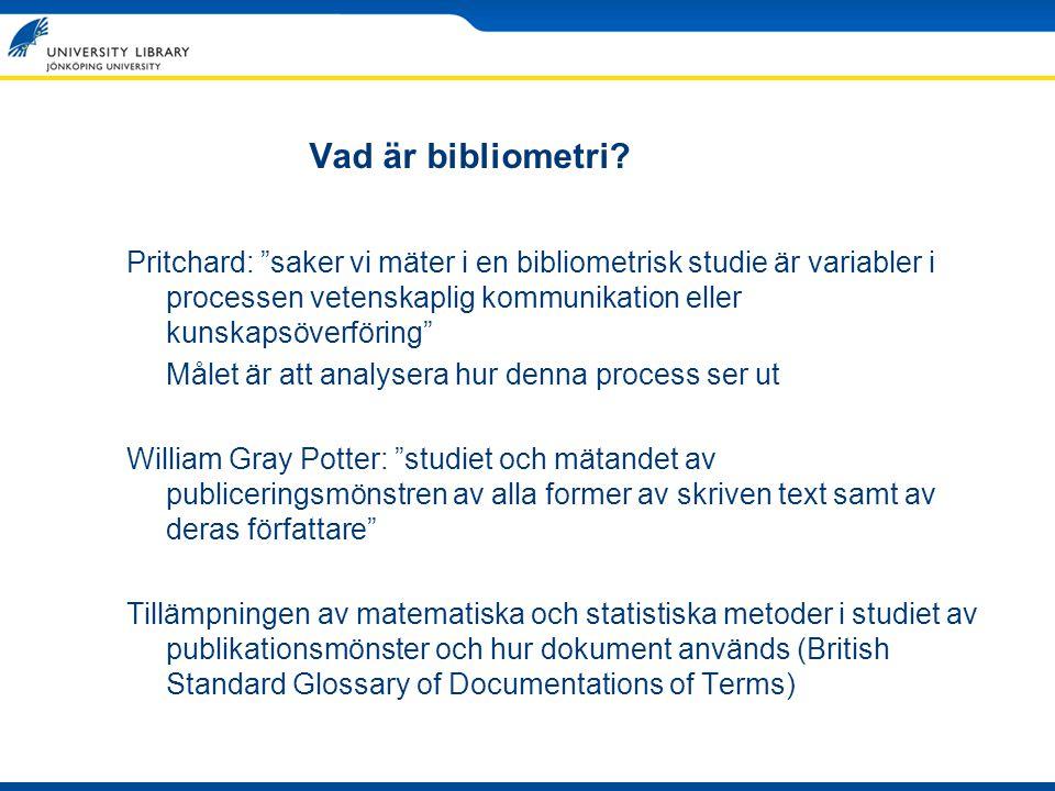 Vad är bibliometri