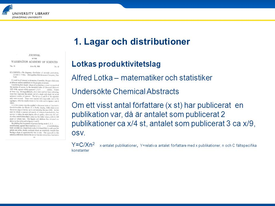 1. Lagar och distributioner