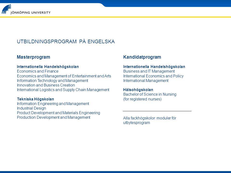 UTBILDNINGSPROGRAM PÅ ENGELSKA