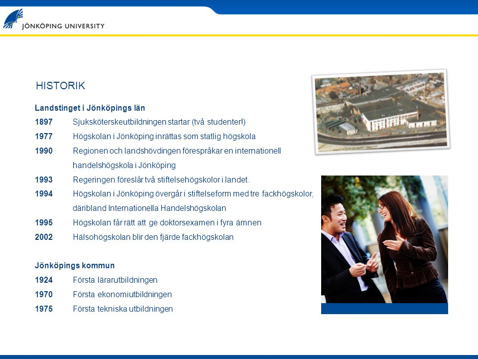 HISTORIK Landstinget i Jönköpings län