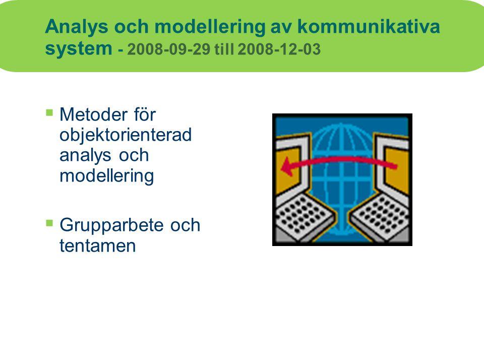 Analys och modellering av kommunikativa