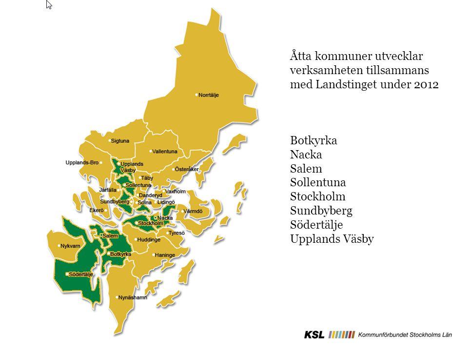 Åtta kommuner utvecklar verksamheten tillsammans med Landstinget under 2012