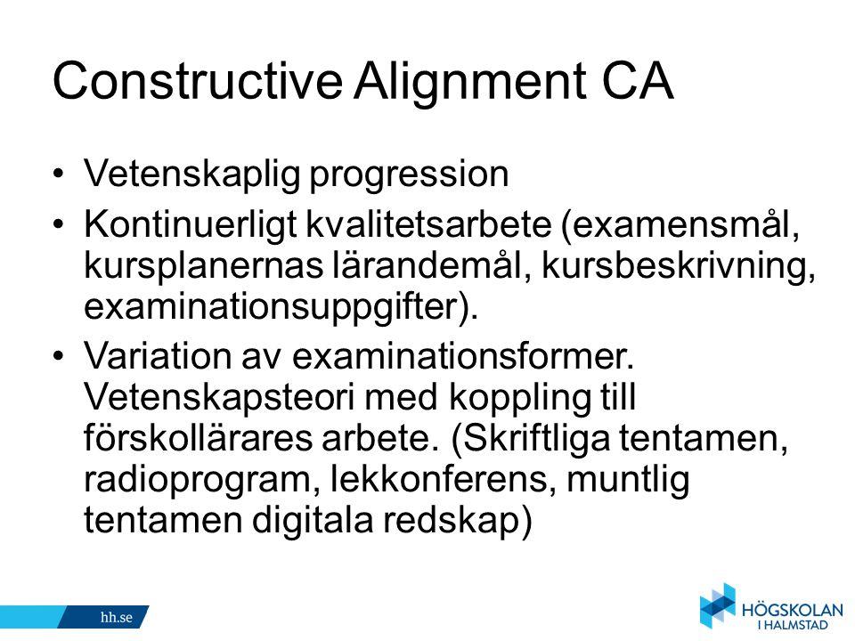 Constructive Alignment CA