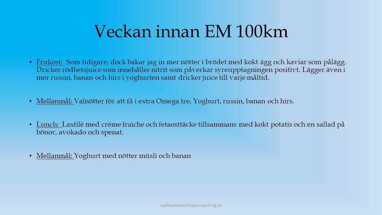 Veckan innan EM 100km