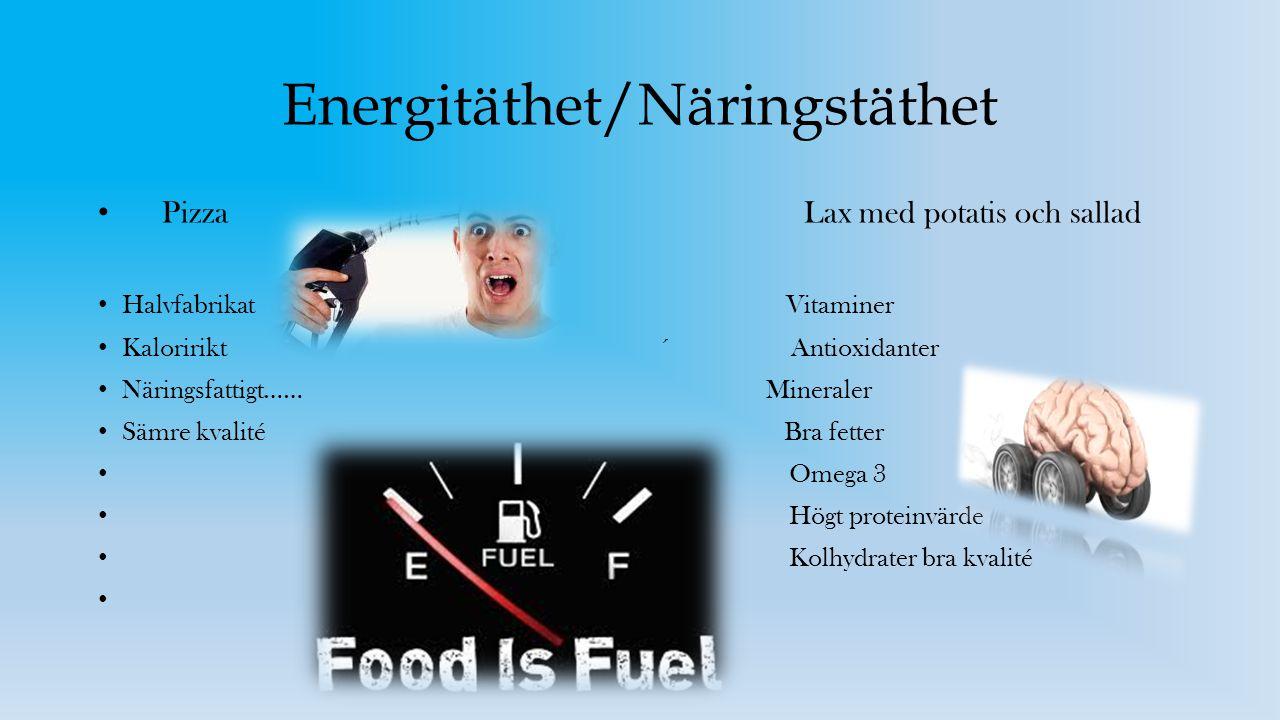 Energitäthet/Näringstäthet