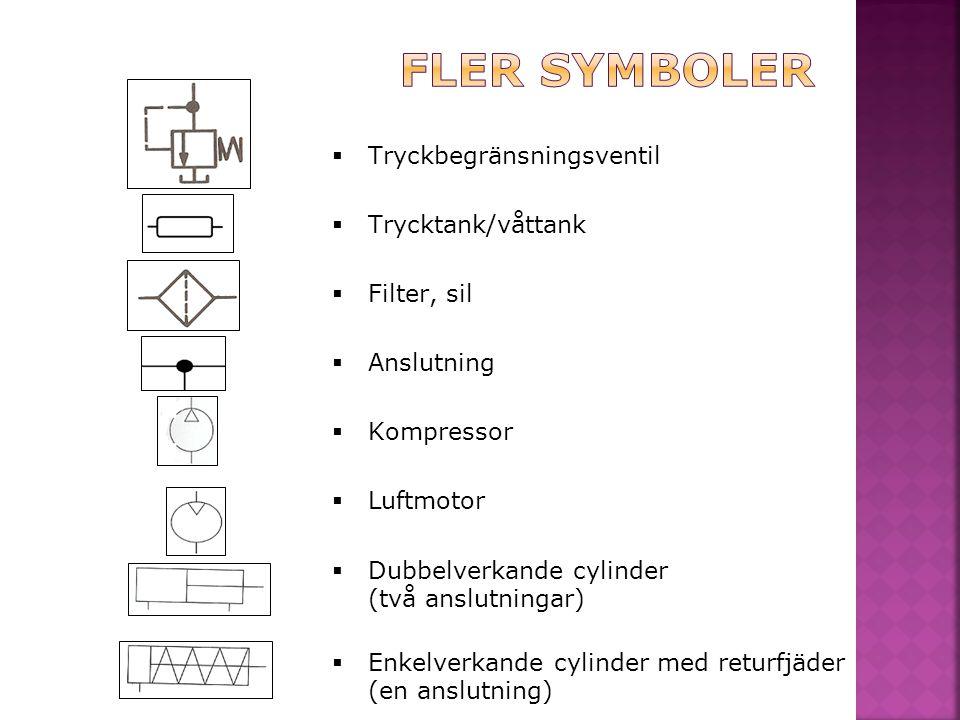 Fler symboler Tryckbegränsningsventil Trycktank/våttank Filter, sil
