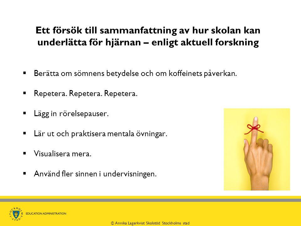 © Annika Lagerkvist Skolstöd Stockholms stad