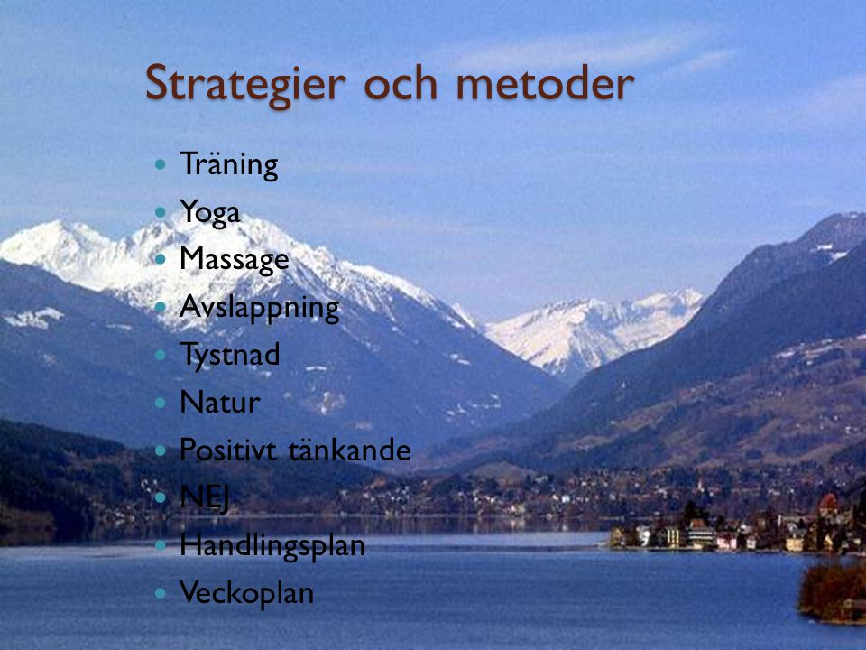 Strategier och metoder