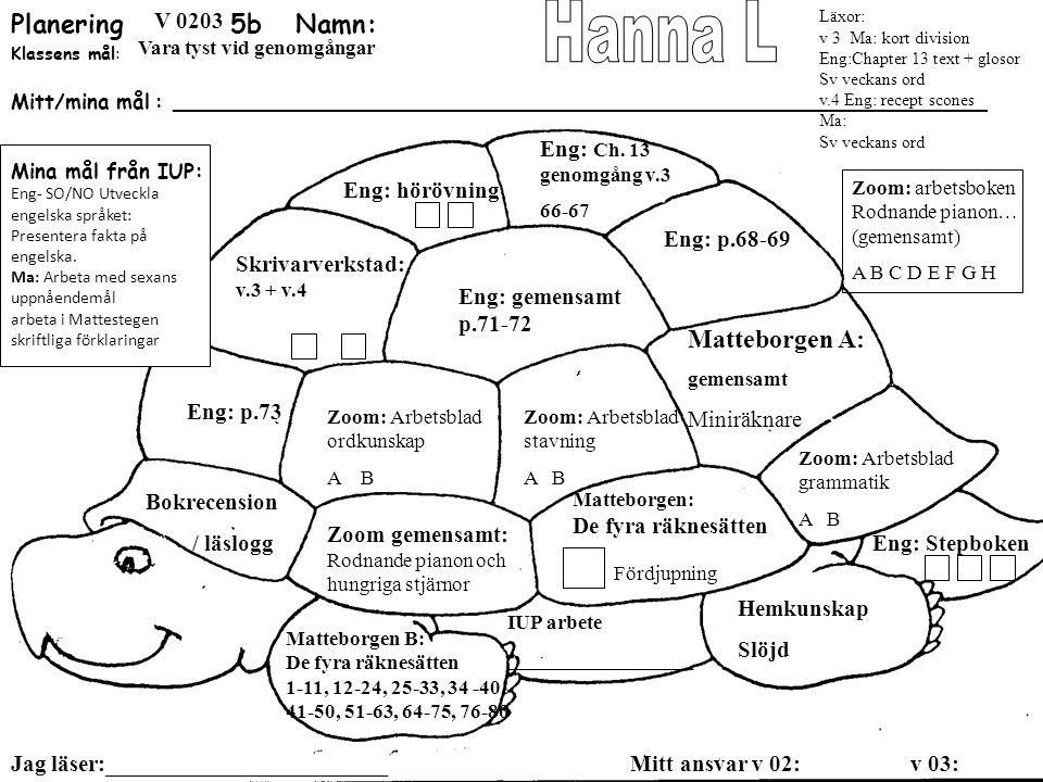 Planering 5b Namn: Hanna L Matteborgen A: SO: landskapspärmen