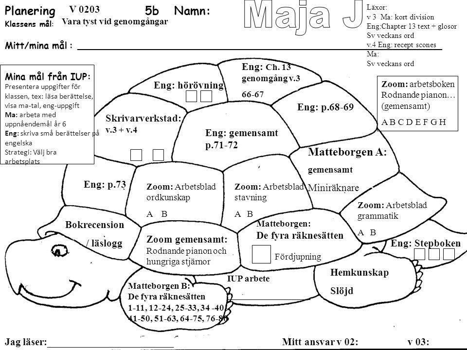 Planering 5b Namn: Maja J Matteborgen A: SO: landskapspärmen