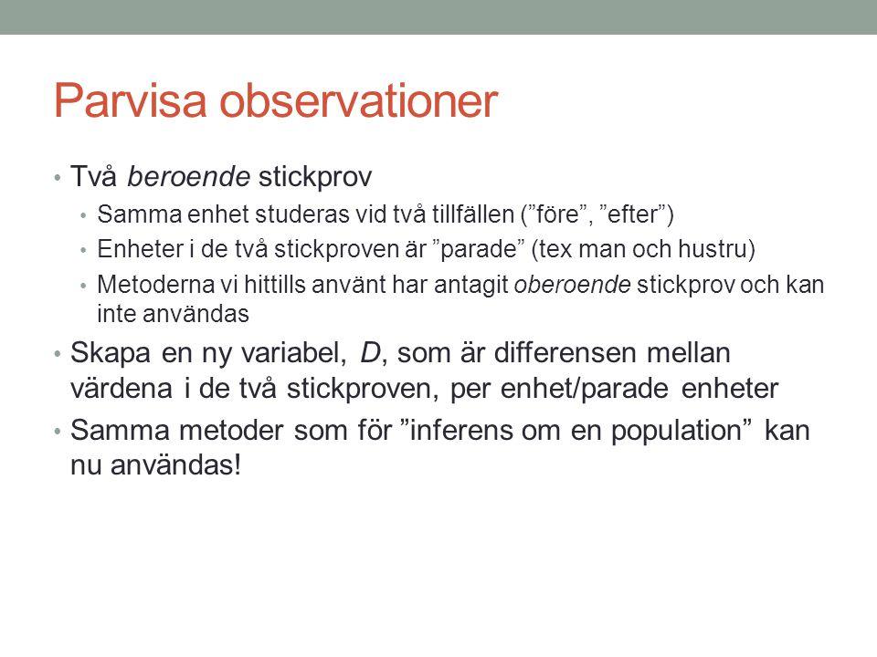 Parvisa observationer