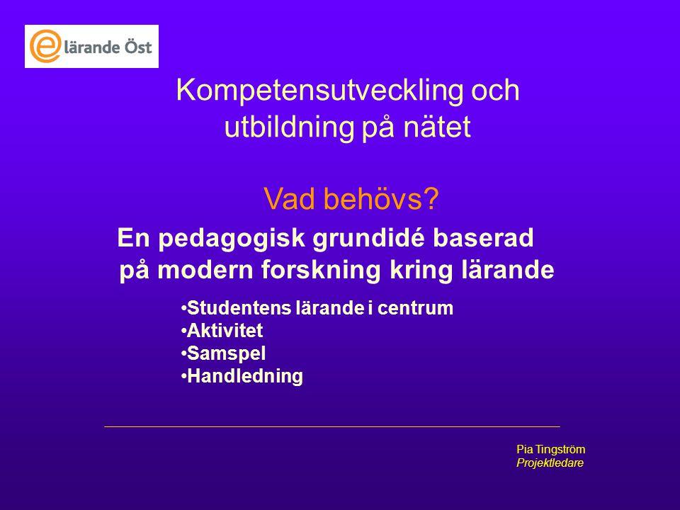 En pedagogisk grundidé baserad på modern forskning kring lärande