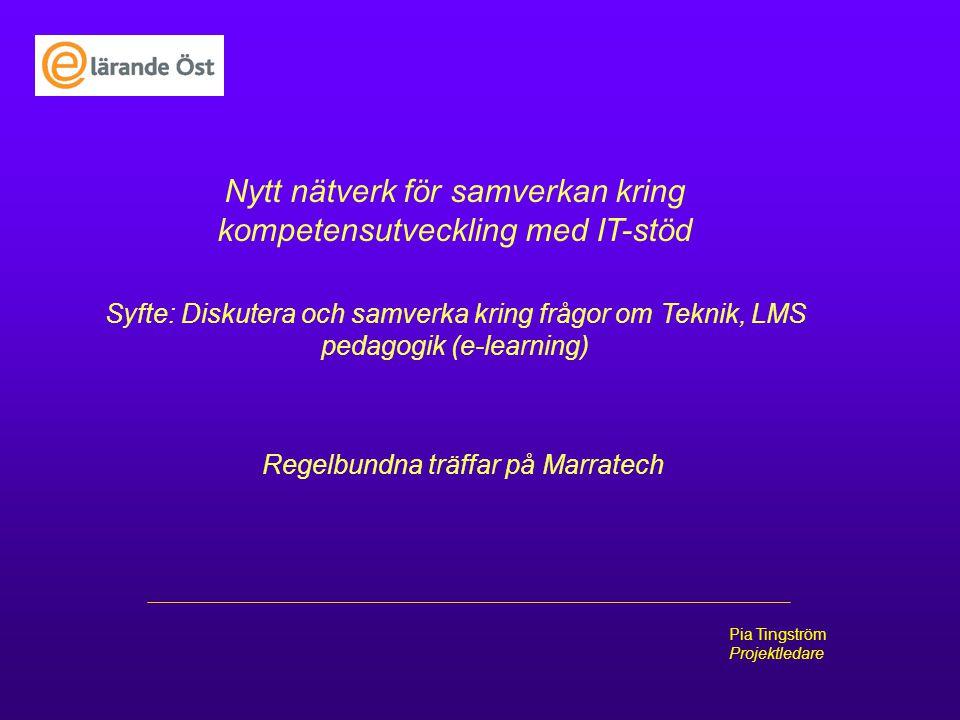 Nytt nätverk för samverkan kring kompetensutveckling med IT-stöd