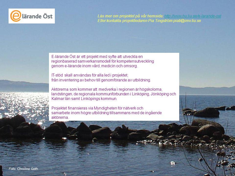 Eller kontakta projektledaren Pia Tingström piati@imv.liu.se
