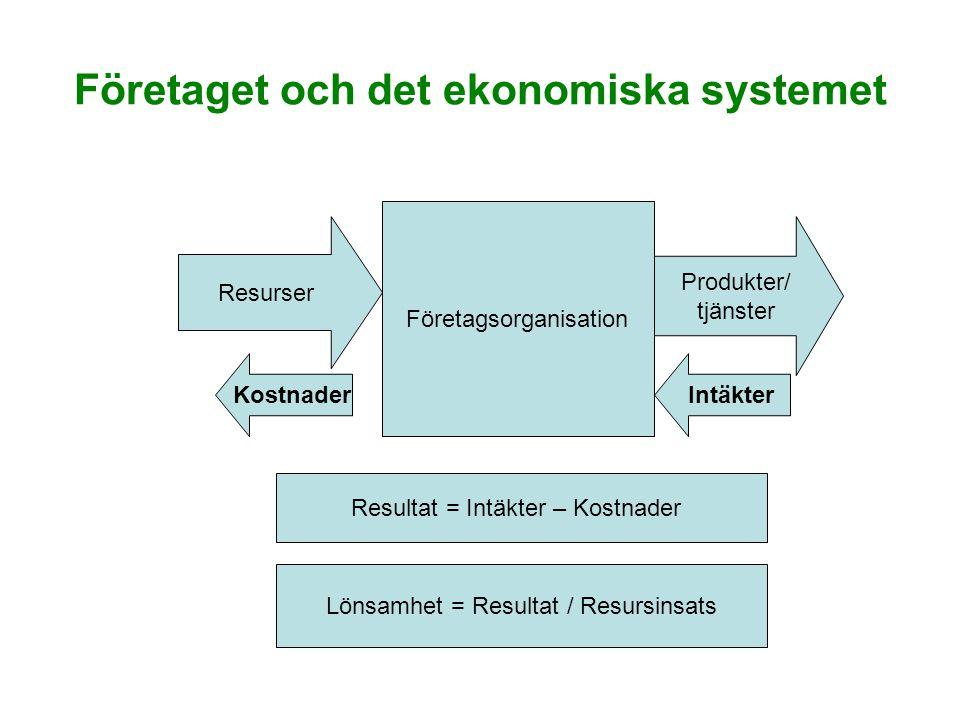 Företaget och det ekonomiska systemet