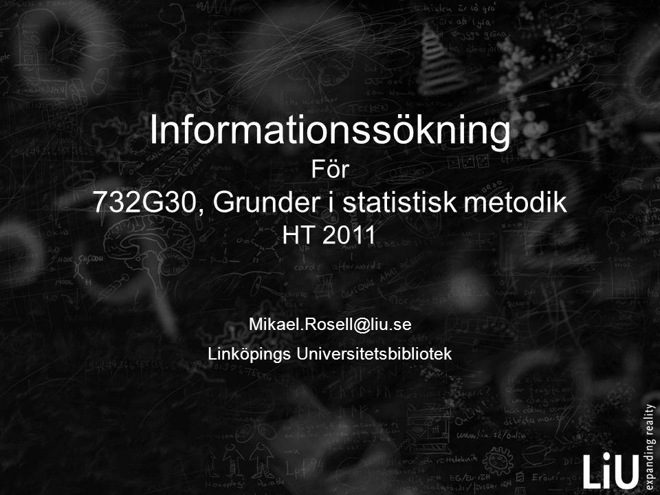 Mikael.Rosell@liu.se Linköpings Universitetsbibliotek