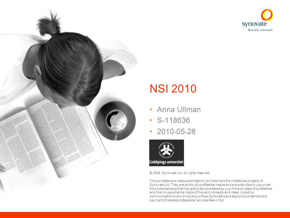 Innehåll Syfte & genomförande 2 NSI, Image och attraktionskraft 10