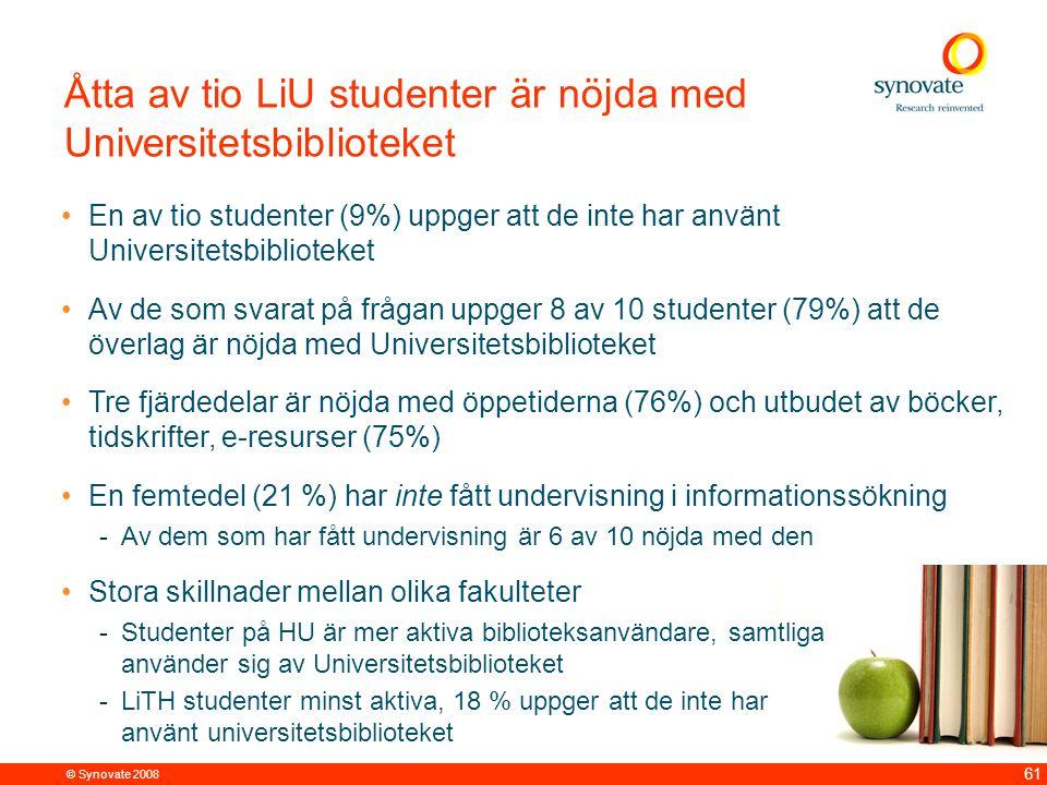 Två av tio LiTH studenter har inte använt sig av Universitetsbiblioteket